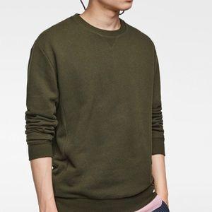 NWT ZARA MAN Olive Sweater Long Sleeves Large